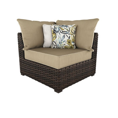 Outdoor by Ashley® Spring Ridge Set of 2 Corner Patio Chairs with Cushions