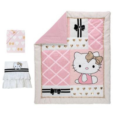 Hello Kitty Hello Kitty 3-pc. Hello Kitty Crib Bedding Set