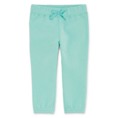 Okie Dokie Pull-On Fleece Jogger Pant - Baby Girl NB-24M