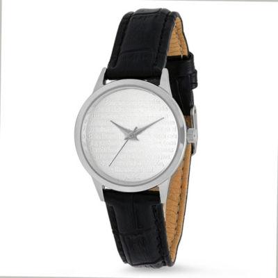 Steeltime Womens Black Bracelet Watch-998-032-W