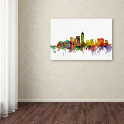 Trademark Fine Art Michael Tompsett Indianapolis Indiana Skyline Giclee Canvas Art