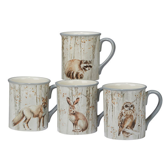 Certified International Woodland Walk 4-pc. Coffee Mug
