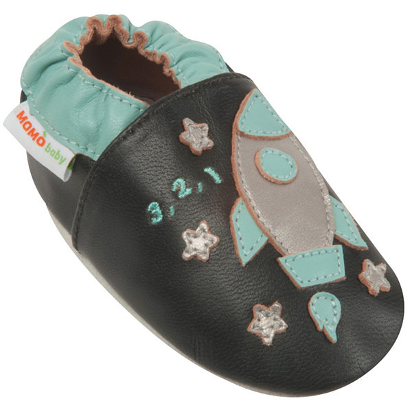 Momo Baby Boys Soft Sole Leather Baby Shoes - Spaceship