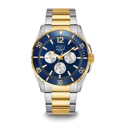 Esq Mens Two Tone Bracelet Watch-37esq024101a