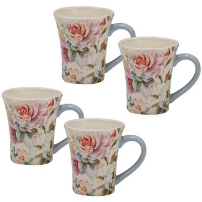 Certified International Beautiful Romance 4-pc. Coffee Mug