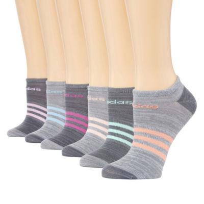 adidas Womens 6pk Superlite No Show Socks