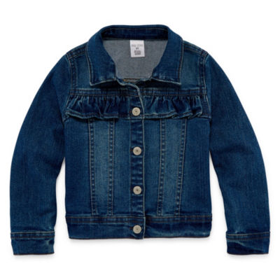 Okie Dokie-Toddler Girls Denim Jacket