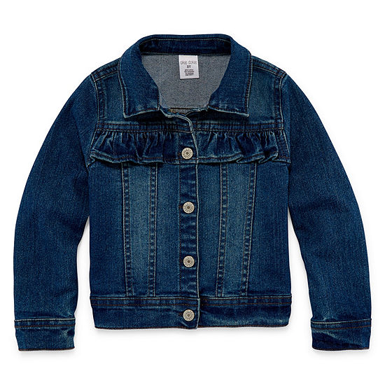 Okie Dokie Girls Denim Jacket-Toddler