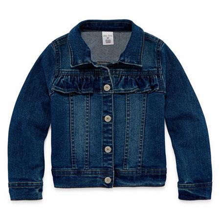 Okie Dokie Toddler Girls Denim Jacket, 5t , Blue
