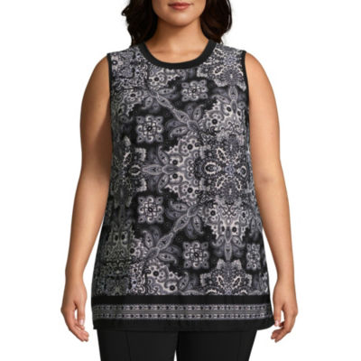 Alyx Sleeveless Printed Knit Tank Top - Plus