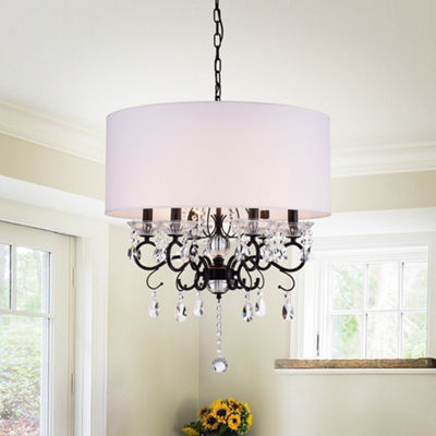Ninian Oiled-rubbed Bronze Crystal/Metal 6-light Chandelier