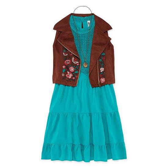Knit Works Girls Sleeveless A-Line Dress