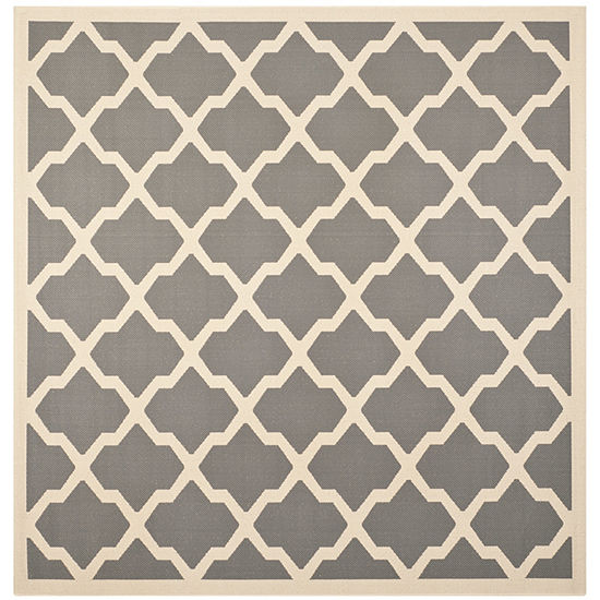 Safavieh Courtyard Collection Bailey Geometric Indoor/Outdoor Square Area Rug