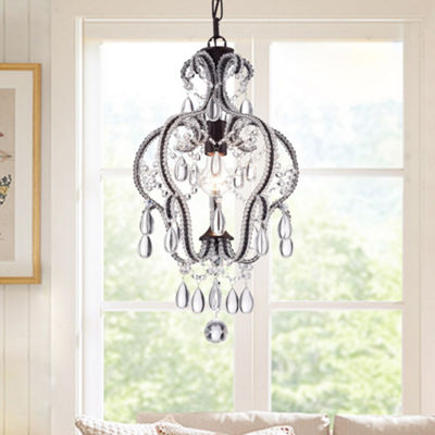 Calilly 1-Light Chandelier Glass Dropletes Antique Bronze