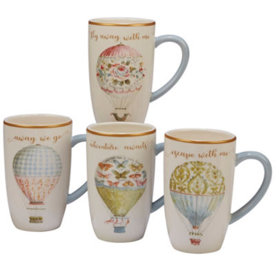 Certified International Beautiful Romance 4-pc. Coffee Mug