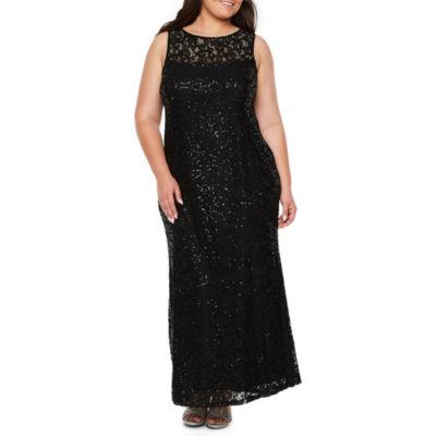 Blu Sage Sleeveless Lace Gown - Plus