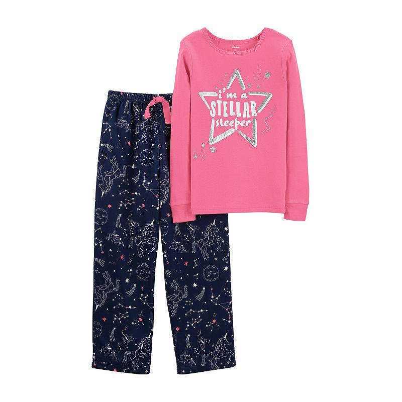 Carters 2-pack Pajama Set Girls, Stellar, Size 4