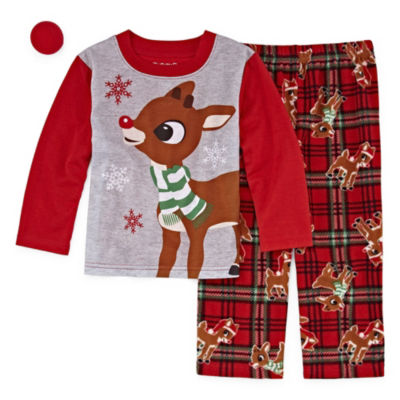 RUDOLPH THE RED NOSE REINDEER 2 PIECE PAJAMA SET - UNISEX TODDLER