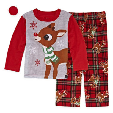 Rudolph The Red Nose Reindeer 2 Piece Pajama Set- Unisex Toddler