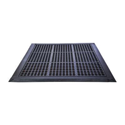 Doortex - Modular System Black Square Anti-Fatigue Mat