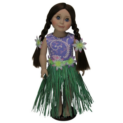 The Queen's Treasures 4-pc. Hula Swim Outfit 18 Inch Doll Clothes