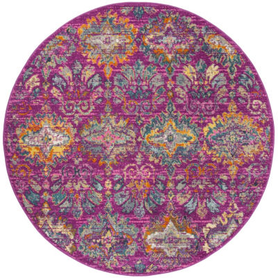 Safavieh Madison Collection Alina Geometric Round Area Rug
