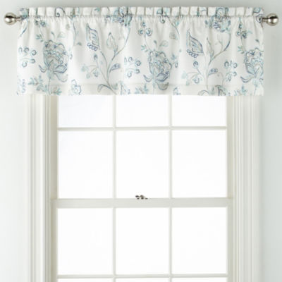 Liz Claiborne Quinn Jacobean Rod Pocket Single Tailored Valance