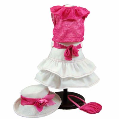 The Queen's Treasures Pink White Skirt Set, 18 Inch Doll Clothes