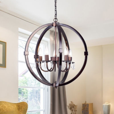 Dzeords 5-Light 20-Inch Antique Bronze Pendant