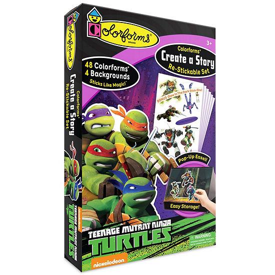 Colorforms Create A Story Teenage Mutant Ninja Turtles Re-Stickable Playset