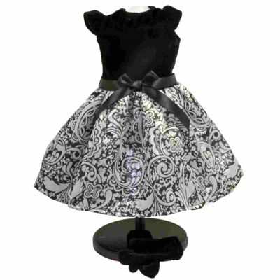 The Queen's Treasures 3-pc. Black & Silver Dress 18 Inch Doll Clothes