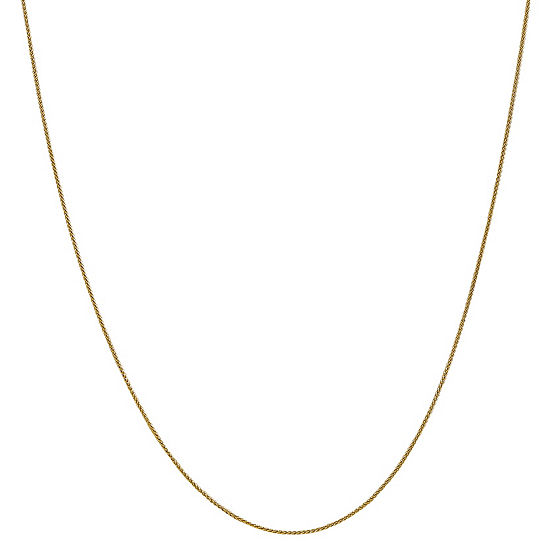 14K Gold Solid Wheat 14-30 Inch Chain Necklace