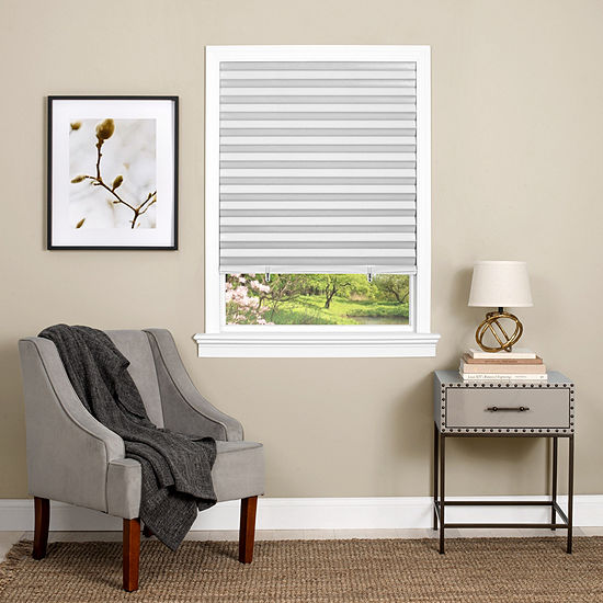 1-2-3 Window Cut-to-Width Cordless Room Darkening Pleated Shades