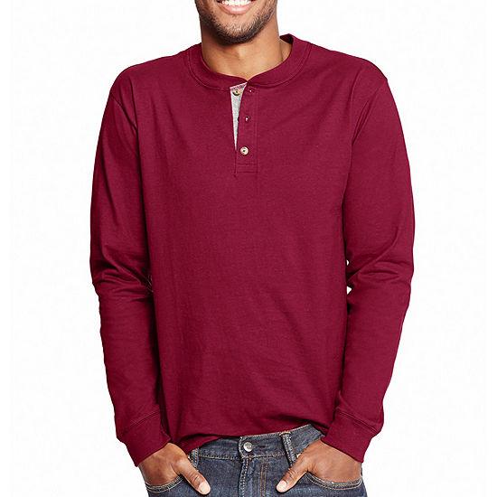 6f91ff93 Hanes Long Sleeve Henley Shirt JCPenney