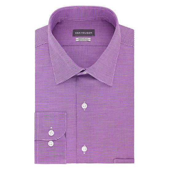 Van Heusen Lux Sateen Stretch B&T Long Sleeve Dress Shirt