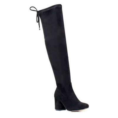 GC Shoes Womens Varley Over the Knee Boots Block Heel Slip-on