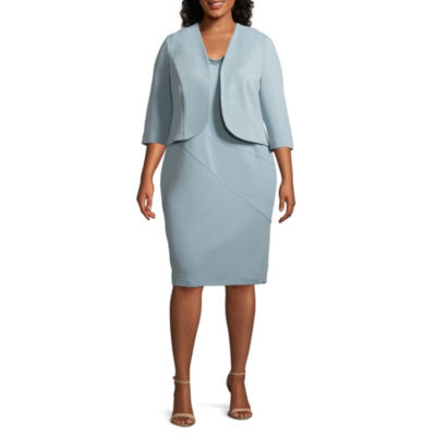 Maya Brooke Sleeveless Embellished Jacket Dress - Plus