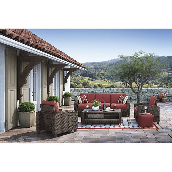 Outdoor by Ashley® Meadowtown 4-Piece Conversation Set