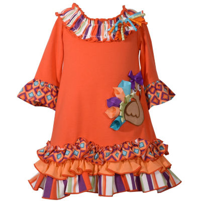 Bonnie Jean 3/4 Sleeve Party Dress - Toddler Girls