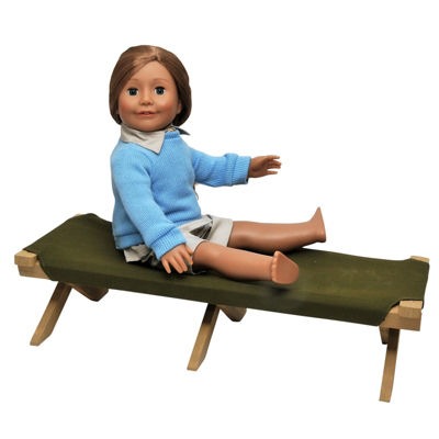 The Queen's Treasures 18 Inch Doll Furniture Camping Cot Bed