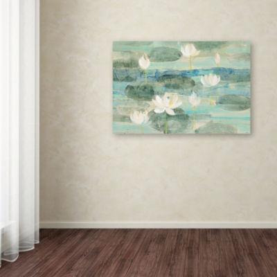 Trademark Fine Art Albena Hristova Water Lilies Bright Giclee Canvas Art