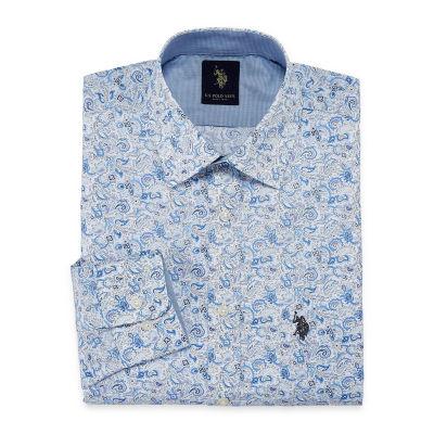 U.S. Polo Assn. Uspa Dress Shirt Long Sleeve Paisley Dress Shirt