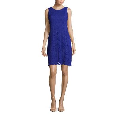 Ronni Nicole Sleeveless Medallion A-Line Dress-Petite