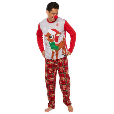 Rudolph The Red Nose Reindeer 2 Piece Pajama Set -Men's