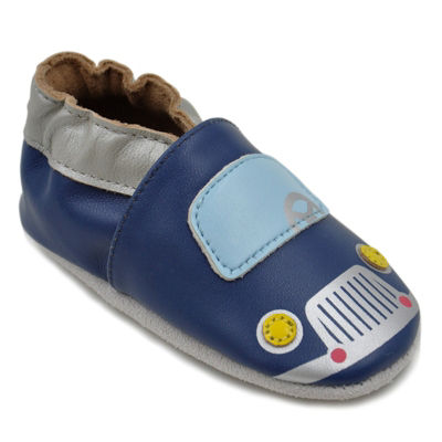 Momo Baby Boys Soft Sole Leather Baby Shoes - Cars