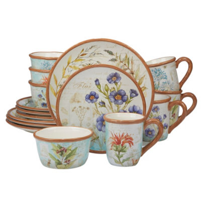 Certified International Herb Blossoms 16-pc. Dinnerware Set