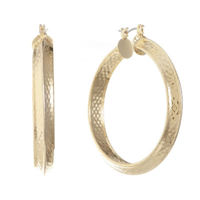 Gloria Vanderbilt 48.6mm Hoop Earrings