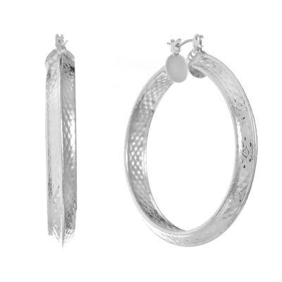 Gloria Vanderbilt 48.6mm Hoop Earrings