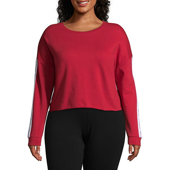 Flirtitude Juniors Plus Womens Round Neck Long Sleeve Sweatshirt
