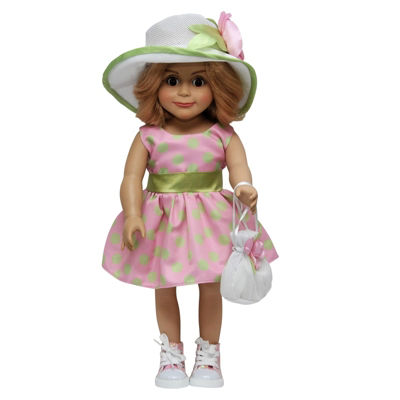 The Queen's Treasures 18 Inch Doll Outfit Dress, Hat, Hand Bag